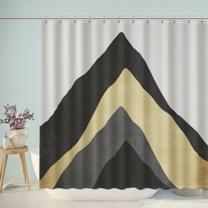 Mountain Peak Silhouette Bathroom Shower Curtain