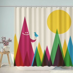 Graphic Design Interview Bathroom Shower Curtain
