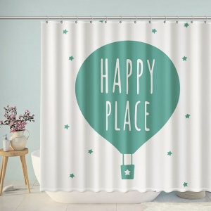 Happy Place Fire Balloon Shower Curtain