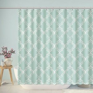 Retro Europe Pattern Print Bathroom Shower Curtain