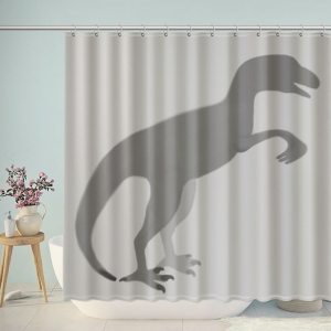 Dinosaur Silhouette Shower Curtain