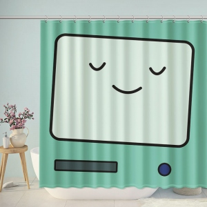 Rectangle Smiley Face Shower Curtain