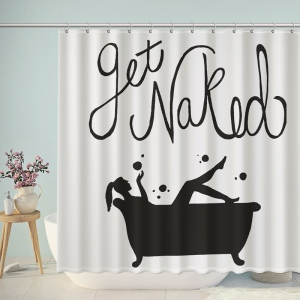 Women in Bathtub Get Naked Shower Curtain