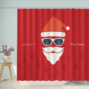 Red Santa Claus Christmas Shower Curtain