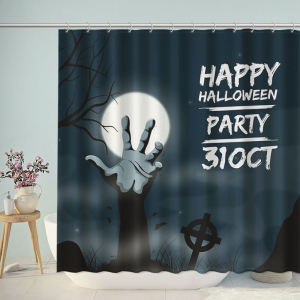 Happy Halloween Party Graves Shower Curtain