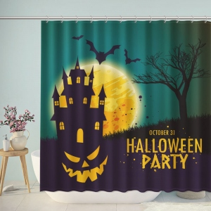 Halloween Dead Forest Castle Shower Curtain