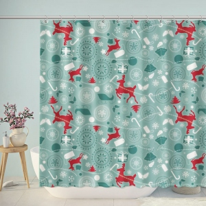 Merry Christmas Pattern Shower Curtain