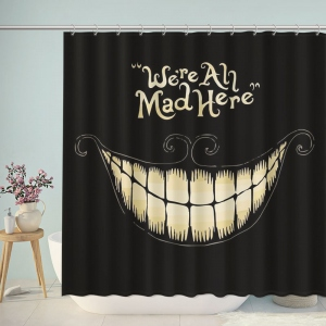 Dark Anime Were All Mad Here Shower Curtain