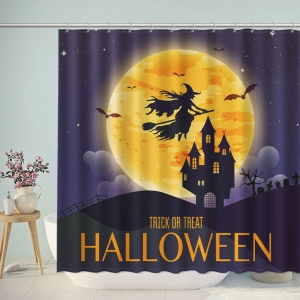 Halloween Trick or Treat Castle Witch Shower Curtain