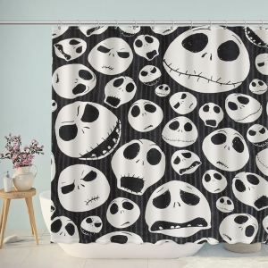 The Nightmare Before Christmas Skulls Shower Curtain