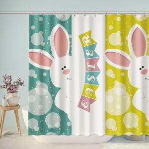 Easter Rabbit Shower Curtain