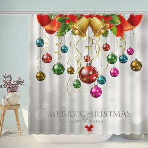 Christmas Balls and Bells Shower Curtain