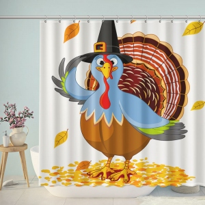 Happy Thanksgiving Day Turkey Shower Curtain