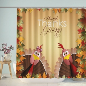 Thanksgiving Day Background Shower Curtain