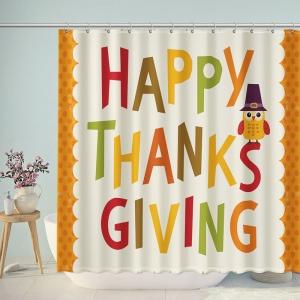 Happy Thanksgiving Decortation Shower Curtain