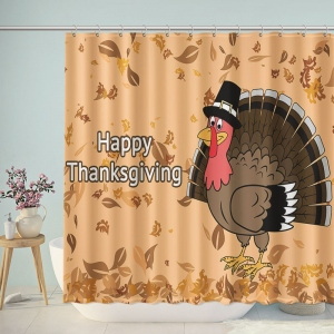 Lovely Thanksgiving Background Shower Curtain