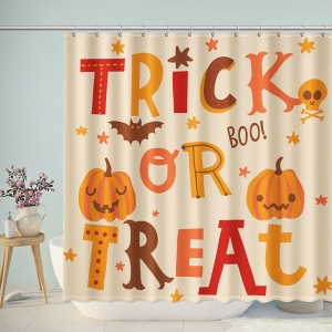Cute Trick or Treat Kids Shower Curtain