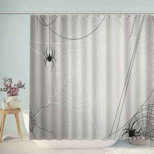 Spider Cobweb Bathroom Shower Curtain