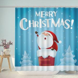 Cute Santa Claus Merry Christmas Shower Curtain