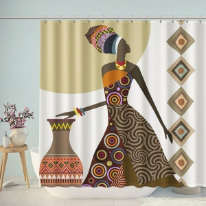 Traditional Painting African Woman Art Shower Curtain