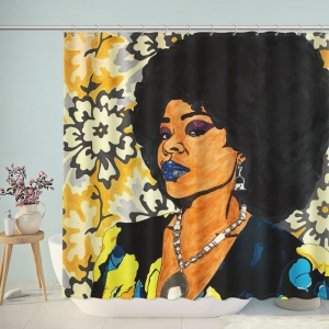 Fashion African Women Painting Shower Curtain