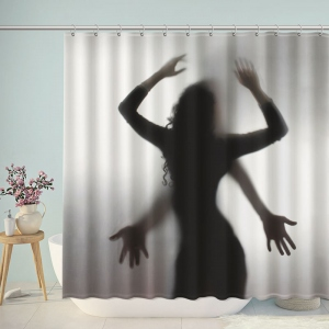 Lovers Shadow Bathroom Shower Curtain