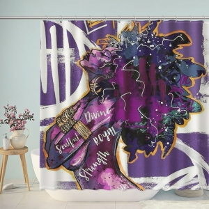 Graffiti Fashion Women Shower Curtain