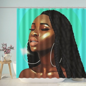 African Woman Artwork Shower Curtain