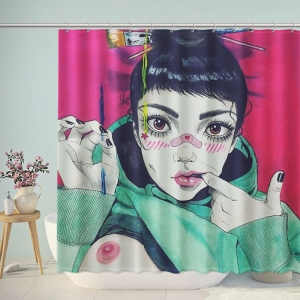 Fashion Sexy Girl Illustration Shower Curtain