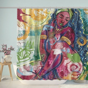 Dope Black Art Woman Painting Shower Curtain