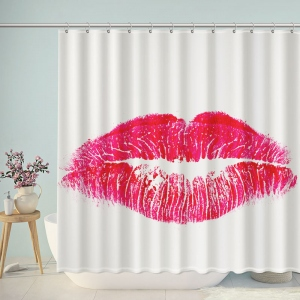 Big Red Lip Bathroom Shower Curtain