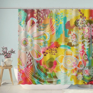 Oil Painting Floral Shower Curtain