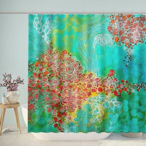 Visual Arts Floral Painting Shower Curtain