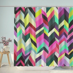 Cool Irregular Chevron Shower Curtain