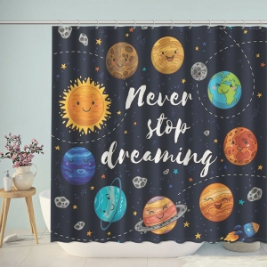 Solar System Never Stop Dreaming Shower Curtain