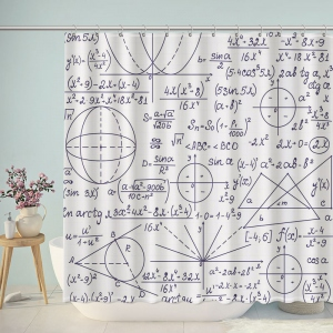 Math Education Textured Shower Curtain
