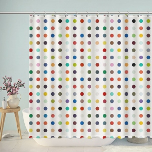 Colorful Polka Dot Shower Curtain