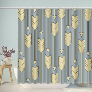 Arrows Pattern Print Shower Curtain
