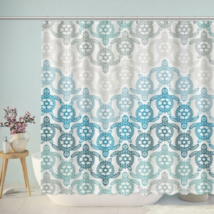 Cute Tortoise Pattern Bathroom Shower Curtain