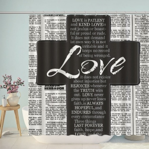 Short Bible Quotes Newpaper  Shower Curtain