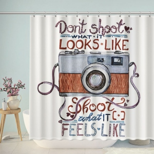 Shoot What It Feel Like Camera Shower Curtain