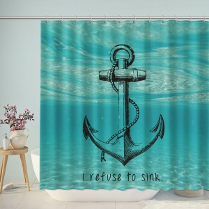 Anchor Under The Sea Shower Curtain