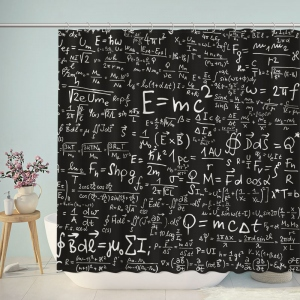 Physics Equations Print Shower Curtain