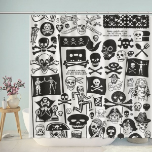 Pirate Themed Bathroom Shower Curtain
