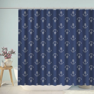 Cute Anchors Pattern Navy Shower Curtain