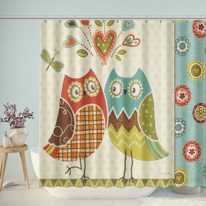 Owl Lover Bathroom Shower Curtain