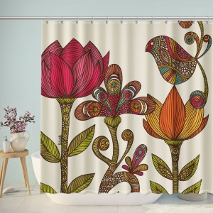Vintage Mandala Flower Shower Curtain