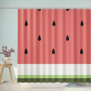 Abstract Watermelon Print Shower Curtain