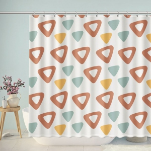 Triangle Pattern Geometric Abstract Shower Curtain