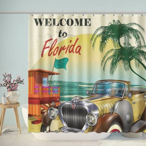 Vintage Welcome to Florida Shower Curtain